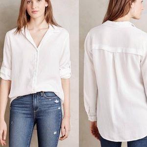 Cloth & Stone White Asbury Button Up Shirt Tunic